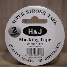 60 Rolls x 2 pack  Masking Tape 24 mm x 15 Meter -White Colour