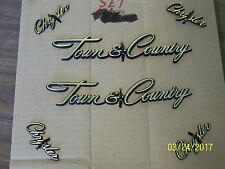1982-1988 Chrysler Town & Country Gold Emblem Set of 6 Quarter Panel Wagon