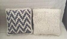 """Handmade decorative sofa pillows set. 15""""x15"""" Unique Design One Of A Kind!"""