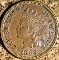 1882 Indian Head Cent - BEAUTIFUL EXTRA FINE+ WELL STRUCK  (J676)