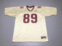 VTG NIKE Florida State Seminoles FSU Greg Carr #89 Gold Authentic Jersey Size XL