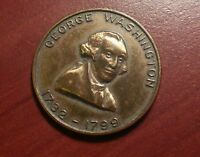 VINTAGE GEORGE WASHINGTON MOUNT VERNON BRONZE MEDAL 1732-1799