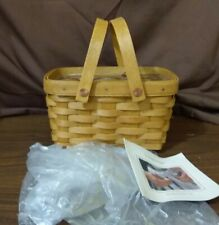 Longaberger 2004 Little Market Basket With Plastic Protector New