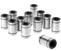 Anet 12pcs LM8UU Linear Motion Ball Bearing Bushing Bush 8mm for 3D Printer