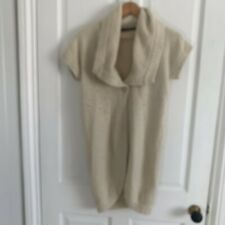 Joules Cream Short Sleeved Cardigan Size Small