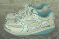 """SKECHER """"SHAPE UPS"""" WOMEN'S WHITE LACE UP RUNNERS SNEAKERS SHOES  SIZE 10 VGC!!"""