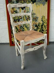 French Painted Decorative Shabby Chic French Country Chair / Occasional chair
