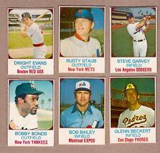Lot of 6: vintage 1975 Hostess Staub Garvey Bonds Dwight Evans & more EX-MT cond