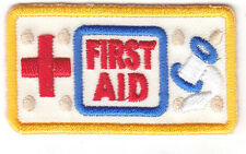 """FIRST AID"" PATCH w/RED CROSS/Iron On Applique/Nurse, Profession,Medical,Medic"