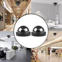 2x Dummy Fake Surveillance Security Dome Indoor/Outdoor Camera w/ Flashing LED