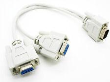 Duplicador Splitter HD15 15-pin 1 PC a 2 VGA SVGA Monitor Y Cable Divisor 2038