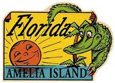 Amelia Island, FLA  1950's-Style  Travel Decal/Sticker