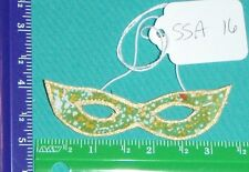 "Green Mardi gras Mask, Gold Trim for 18"" Supersize Barbie Tiffany Taylor SSA16"