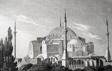 ISTANBUL HAGIA SOPHIA KIRCHE MOSCHEE AYA SOFYA ORIG. 1840 TÜRKEI SOFIA JUSTINIAN