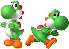 2 X YOSHI FROM MARIO BROTHERS IRON ON T SHIRT TRANSFERS LIGHT/WHITE FABRICS