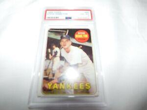 1969 TOPPS #69 STEVE HAMILTON YANKEES Baseball Card PSA 4