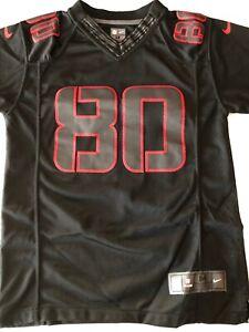 Nike On Field Houston Texans #80 Andre Johnson Rare Black Jersey YOUTH Medium