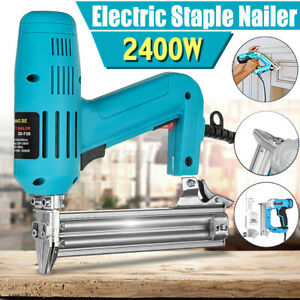 F30 1800W 220V Electric Nail Staple Gun Heavy-Duty Woodworking Staple Machine y