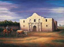 "Texas SAN ANTONIO ""ALAMO 1850"" SIGNED limited edition 13 X 19 PRINT Free shippin"
