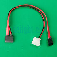 13(7+6) Pin Slimline SATA Cable for Slim SATA DVD Drive 2p power cable New DB