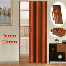 6/12mm PVC Concertina Accordion Folding Door Magnetic Catch AMELIA Brown Gloss