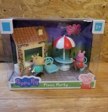 Peppa Pig Pizza Party Gabriella Goat Table with Umbrella 2 Chairs & Café Window