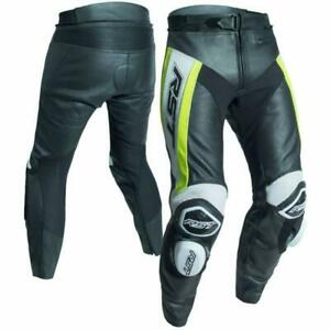 RST Tractech Evo R Leather Sports Motorcycle Motorbike Trousers - Black / Yellow