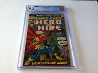 HERO FOR HIRE 9 CGC 9.2 LUKE CAGE DOCTOR DOOM FANTASTIC FOUR MARVEL COMICS