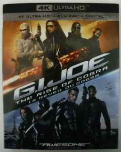 G.I. Joe The Rise Of Cobra (4K UHD + Blu-ray + Digital + Slipcover, New &Sealed)