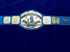 WWF 4mm Blue Leather Intercontinental heavyweight Wrestling Championship Belt