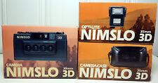 NIMSLO 35mm 3D Film Camera, Opti-Lite Flash, Case, and Manuals, NOS