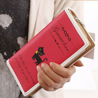 2016 new fashion girls women cat purse clutch wallet long card holder mobile bag