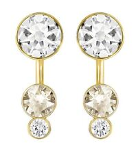 Swarovski Slake Dot Pierced Earring Jackets Gold-Plated Crystal MIB 5201102