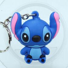 3D Lilo & Stitch Soft Rubber Keyring Keychain#11
