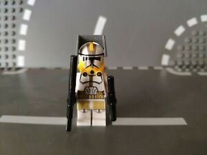 Custom Lego Star Wars Clone  Commander Bly mit Visor, 2 Blastern, Bedruckt, Neu