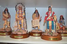 """""""The Great Chieftains"""" Danbury 10 pc Collectible Ceramic w wood bases  """"Perillo"""""""