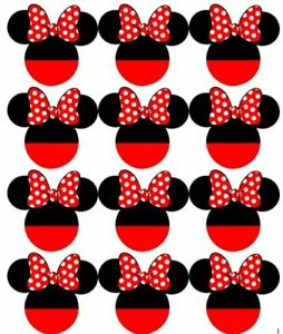 Disney Minnie Mouse Cupcake Toppers Edible Image Minnie Ears Cake Toppers 2