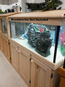 "5'x18""x18"" Glass Aquarium Fish Tank Cabinet Hood - PICK UP ONLY"