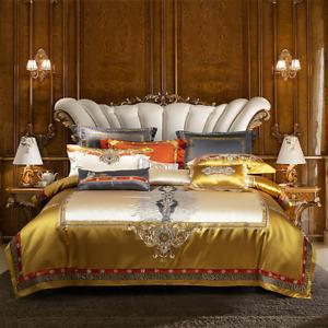 2021 Tencel Cotton Bedding Set Duvet Cover Flat Sheet Thick Bed Cover 4/6/10pcs