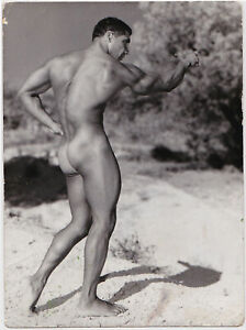 Rare Vintage Photo Stamped, Ferrero, France, Male Nude Dancale, c. 1962, Gay