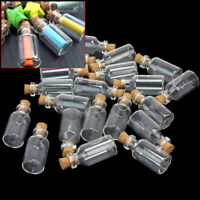 10/20pcs Mini Small Tiny Cork Stopper Glass Bottles Vials Jars Craft Supply