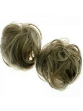 Ashy Ash Blonde Large Fake Extension Bun Scrunchy Hair Scrunchie Bride Updo
