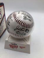 MAJOR LEAGUE Autographed Baseball Minnesota Twins 90's HTF VTG MR