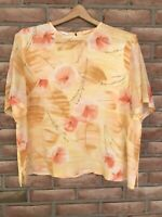PENDLETON Women's 100% Silk Short Sleeve Blouse Floral Size 18