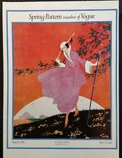 Vogue Fashion Magazine Cover Poster Print Spring Pattern Number March 1,1916