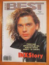 Best N° 242 du 09/1988- INXStory-Etienne Daho- Poster de Sting & Michael Jackson