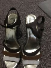Marks And Spencer's Limited Collection Brown Scrappy Wedges Size Uk 7.5 Summer