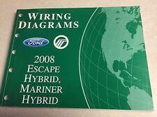 2008 Escape Mariner HYBRID Ford Wiring Diagram Dealers  Workshop Repair Manual