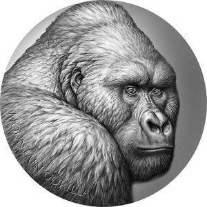 2021 Cameroon - Mountain Gorilla, Wildlife Expressions, 2oz silver coin & OMP