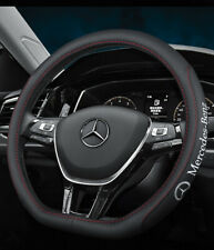 "15"" Car Steering Wheel Cover Genuine Leather For Mercedes-Benz Nice"